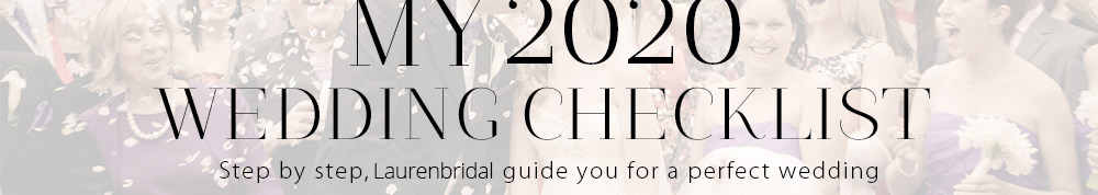My 2018 Wedding Checklist